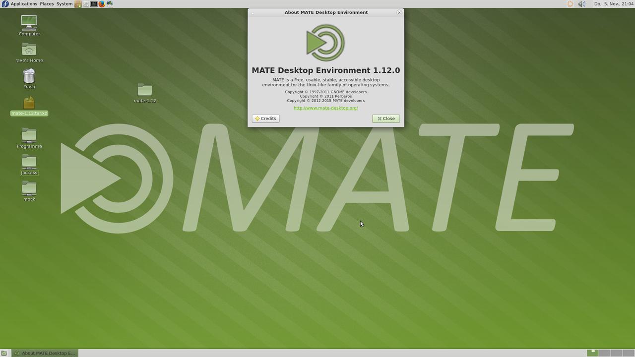 Демонстрация работы MATE Desktop 1.12 скриншот 8