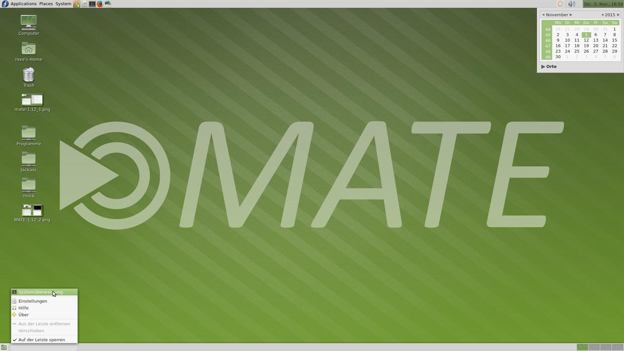 Демонстрация работы MATE Desktop 1.12
