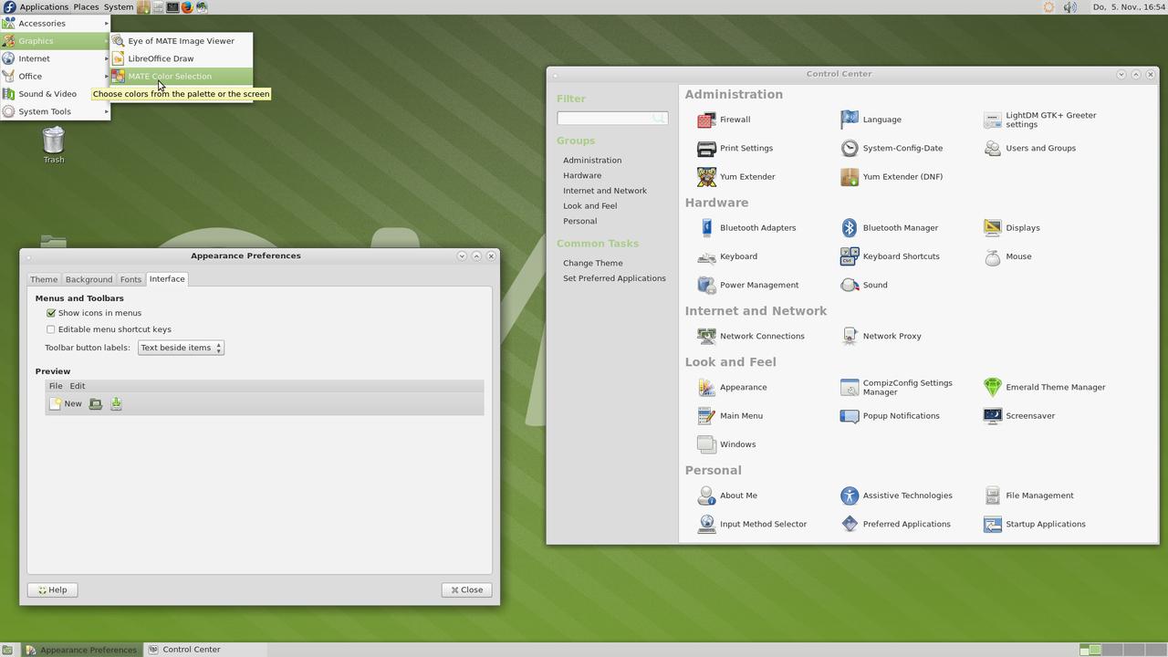 Демонстрация работы MATE Desktop 1.12 скриншот 2