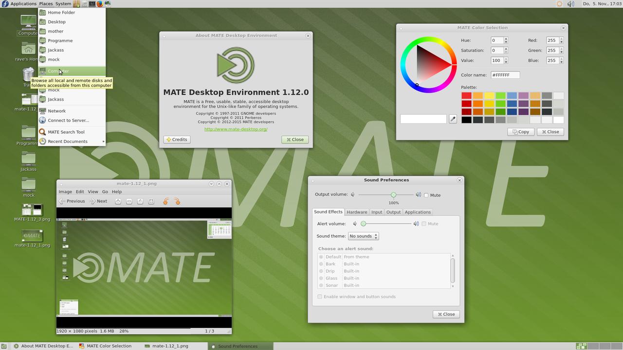 Демонстрация работы MATE Desktop 1.12 скриншот 4