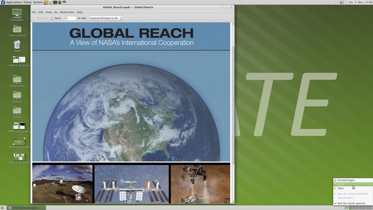 Демонстрация работы MATE Desktop 1.12 скриншот 5