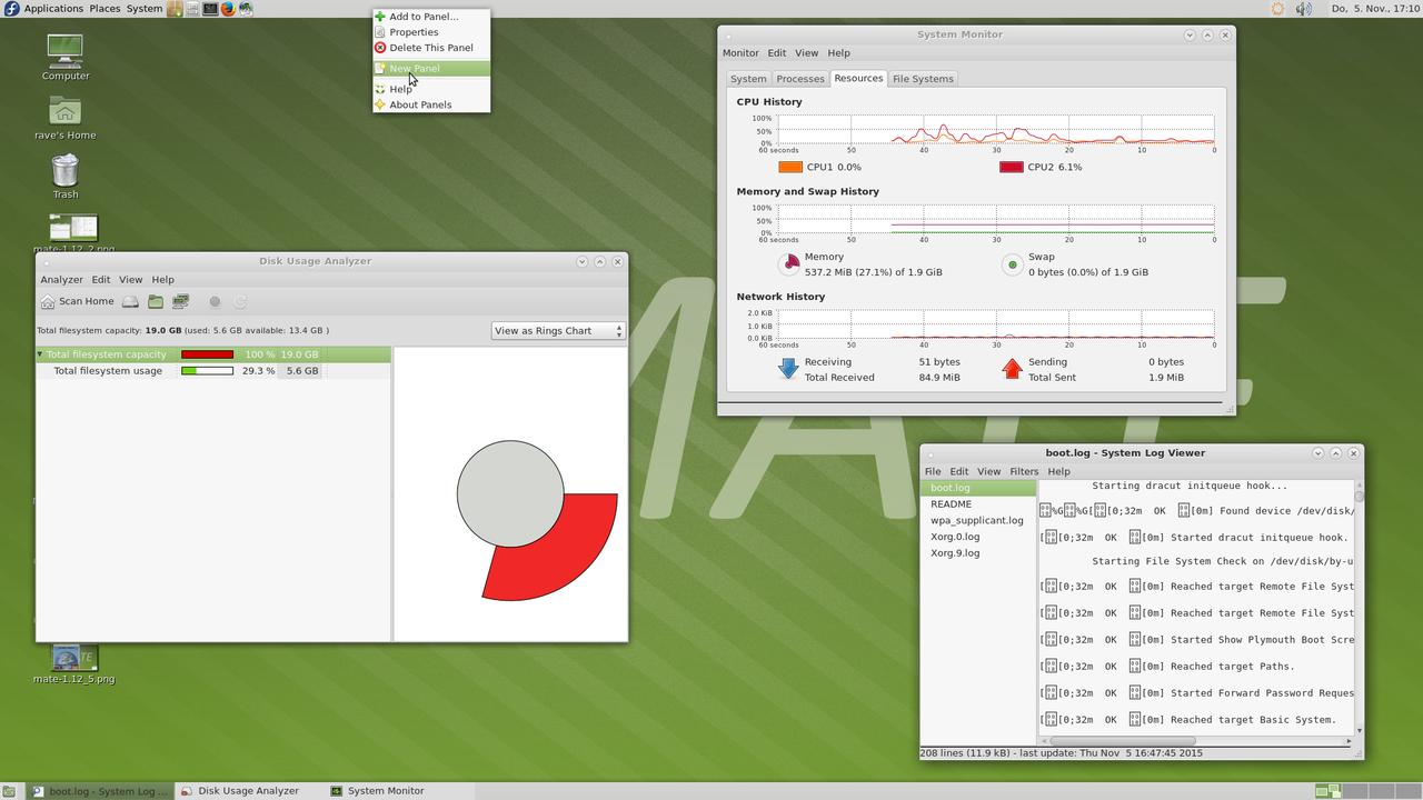Демонстрация работы MATE Desktop 1.12 скриншот 6