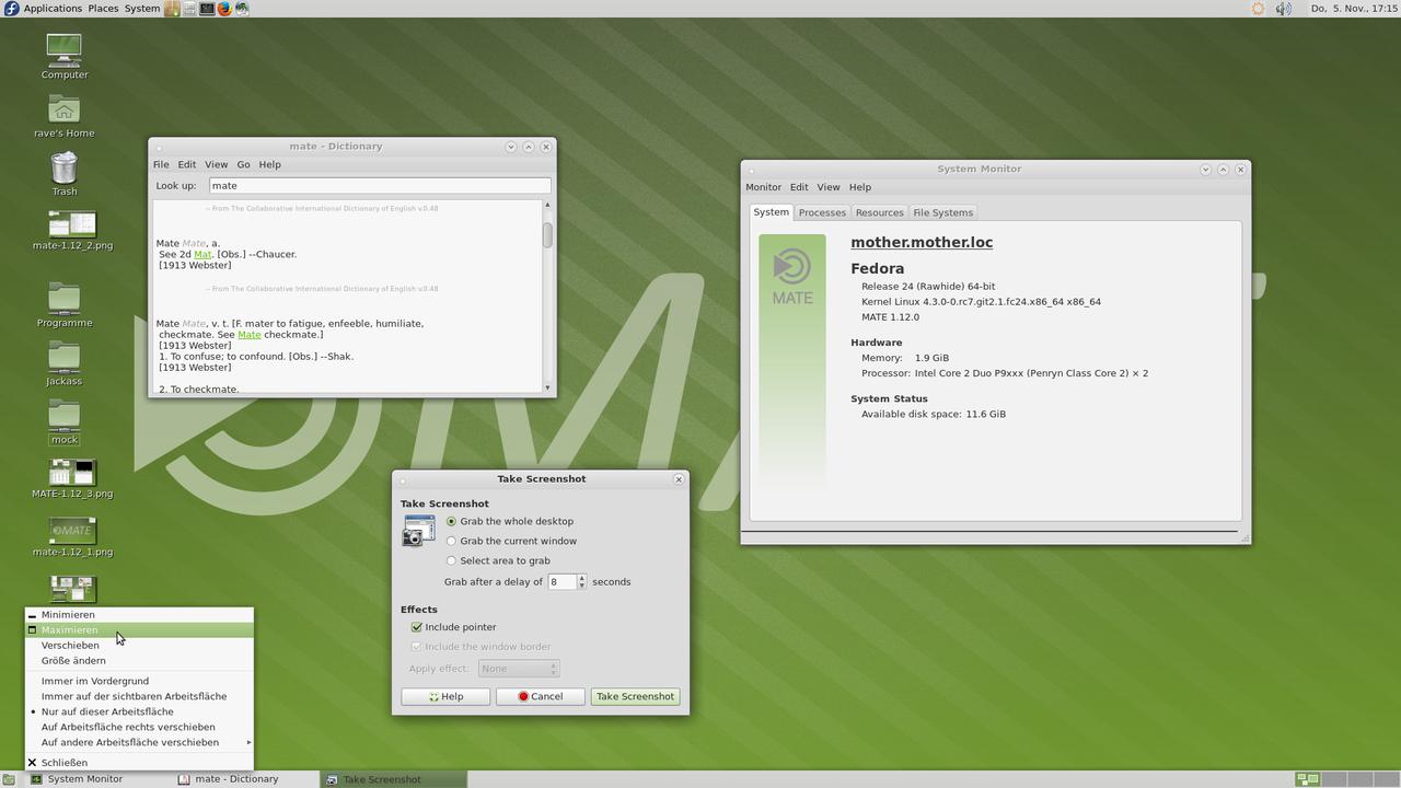 Демонстрация работы MATE Desktop 1.12 скриншот 7