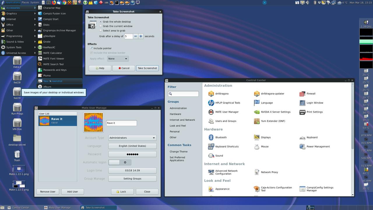 Screenshot of MATE desktop.